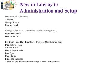 New in Liferay 6:  Administration and Setup