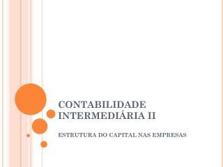 CONTABILIDADE INTERMEDIÁRIA II
