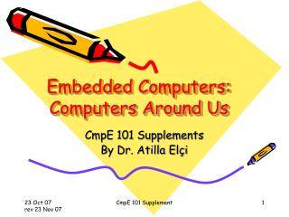 Embedded Computers: Computers Around Us