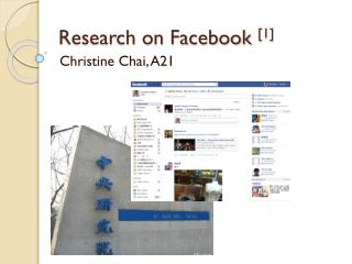 Research on  Facebook  [1]