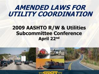 Amended Laws for  UTILITY COORDINATION