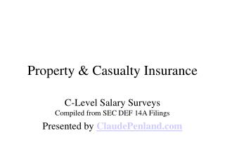 Casualty Insurance Salaries
