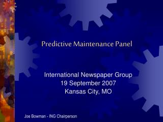 Predictive Maintenance Panel