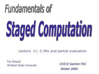 Tim Sheard Portland State University