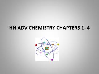 HN ADV  CHEMISTRY CHAPTERS 1-  4