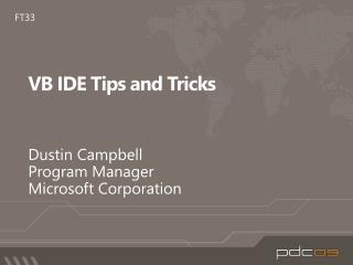 VB IDE Tips and Tricks