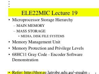 ELE22MIC Lecture 19