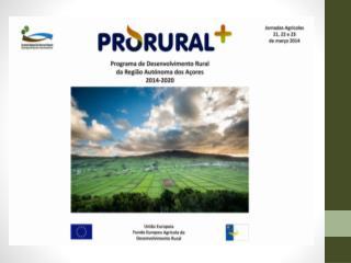 Segmentos de intervenção do  PDR/  Prioridades do Desenvolvimento rural (FEADER)