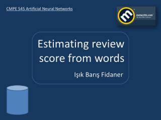 Estimating  review score from  words