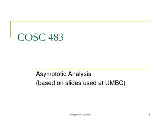 COSC 483