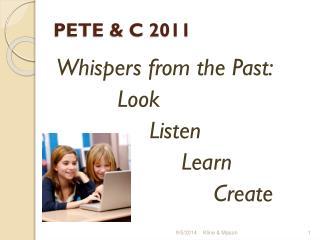 PETE & C 2011