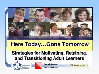 Strategies for Motivating, Retaining, and Transitioning Adult Learners