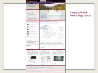 Umpqua Portal Home Page Layout