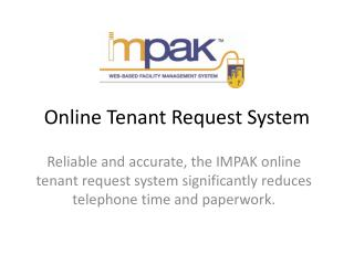 Online Tenant Request System