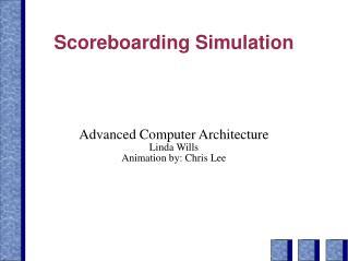 Scoreboarding Simulation