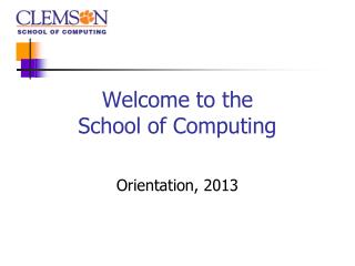 Welcome to the School of Computing