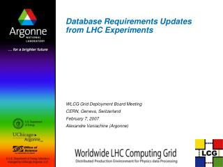 Database Requirements Updates from LHC Experiments