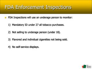 FDA Enforcement Inspections