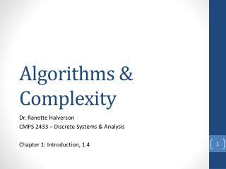 Algorithms & Complexity