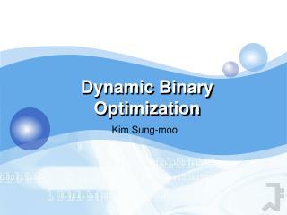Dynamic Binary Optimization