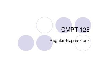 CMPT 125