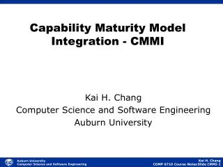 Capability Maturity Model Integration - CMMI