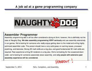 A job ad at a game programming company