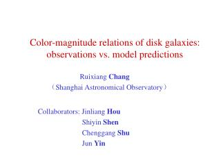 Color-magnitude relations of disk galaxies: observations vs. model predictions
