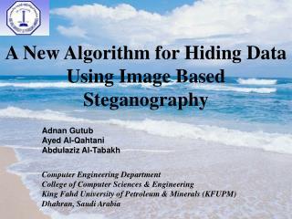 A New Algorithm for Hiding Data Using Image Based Steganography