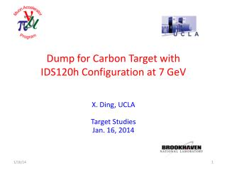 Dump for Carbon Target with  IDS120h Configuration at 7 GeV