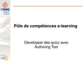Pôle de compétences e-learning