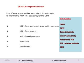 14 CBM Meeting                                         V.  Peshekhonov