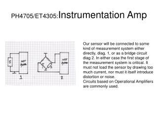 PH4705/ET4305: Instrumentation Amp