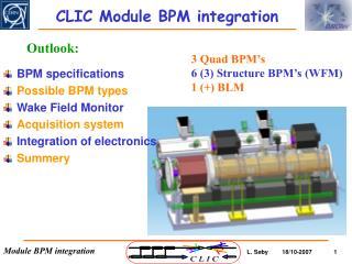 CLIC Module BPM integration