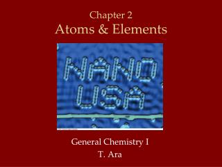 Chapter 2 Atoms & Elements