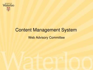 Web Advisory Committee