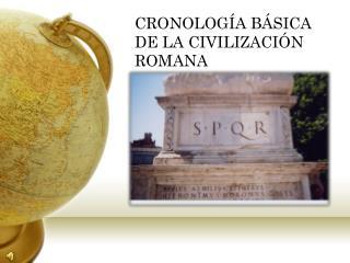 CRONOLOG A B SICA DE LA CIVILIZACI N ROMANA
