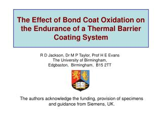 The Effect of Bond Coat Oxidation on the Endurance of a Thermal Barrier Coating System