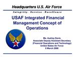USAF Integrated Financial Management Concept of Operations