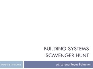 Building Systems Scavenger Hunt