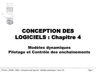 CONCEPTION DES LOGICIELS : Chapitre 4