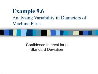 Example 9.6 Analyzing Variability in Diameters of Machine Parts