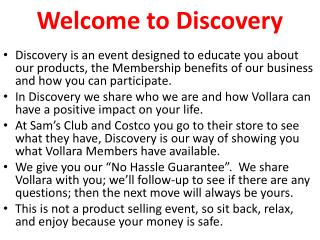 Welcome to Discovery