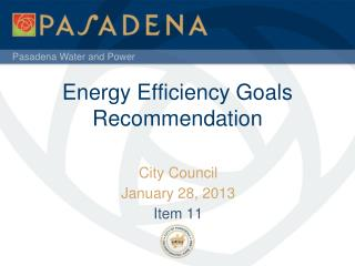 Energy Efficiency Goals Recommendation