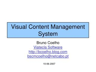 Visual Content Management System