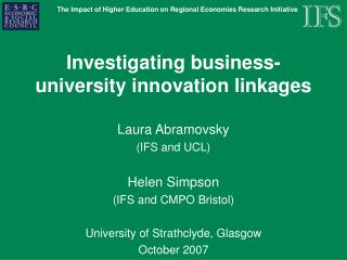 Investigating business-university innovation linkages