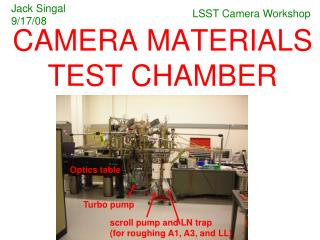 CAMERA MATERIALS TEST CHAMBER
