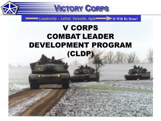 V CORPS COMBAT LEADER DEVELOPMENT PROGRAM (CLDP)