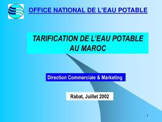 OFFICE NATIONAL DE LEAU POTABLE