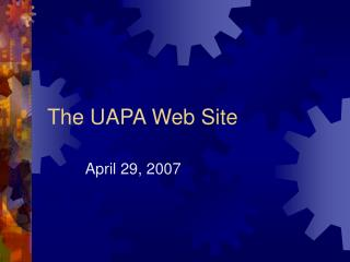 The UAPA Web Site